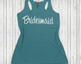 Bridesmaid Flowy Tank Top. Mix and Match your colors, sizes, writing. Flowy Bridesmaid tank top. Bachelorette Shirts. Bridesmaid tanks.