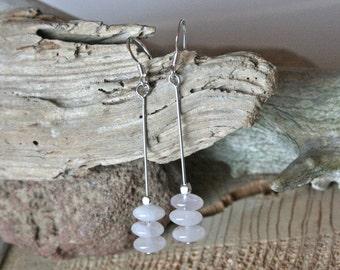 Thielsen earrings, rose quartz earrings, quartz jewelry, crystal earrings, pink earrings, metaphysical jewelry, rose quartz jewelry, healing