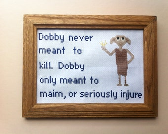 Harry Potter Dobby Cross Stitch Pattern: Buy 2 Patterns Get 1 FREE!!