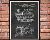 Patent 1945 Insulated Military Tank Patent Designed for the US Military - Army - Art-Poster Print - Soldier Wall Art - Veteran Wall Art