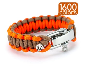 Cobra bracelet - Cobra knot bracelet with real stainless steel buckle. Create your own survival bracelet from the 1600 options for colors!