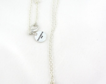 Peace sign necklace in metal, peace necklace, peace jewelry, peace on earth- long chain necklace