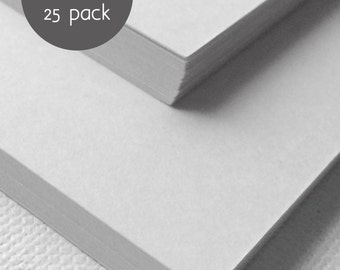 "White Cardstock Paper - 25 Pack - White Cardstock - A2 - 5.5"" x 4.25"""