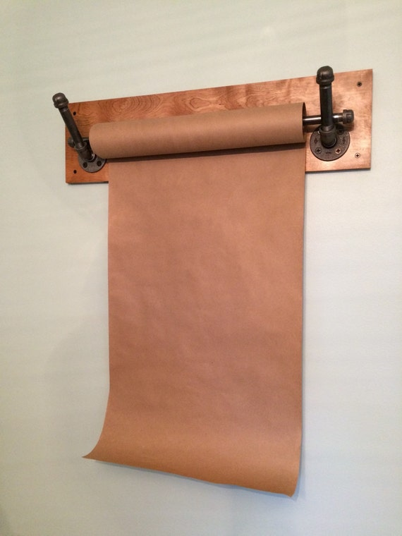 Kraft Paper Dispenser Wall Mount Reclaimed Wood By