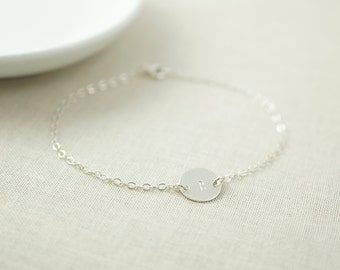 Delicate initial bracelet - bridesmaids gifts - simple bracelet