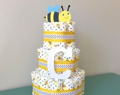 Bumble Bee Diaper Cake - Honest Diaper Cake by BeachBaby - Medium
