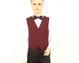 Kids Burgundy Full Back Dress Vest