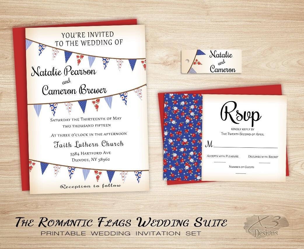 Summer Wedding Invitations: Rustic Wedding Invitations Summer Wedding Invitation DIY