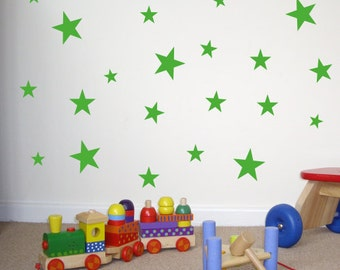 Set of 60 Star Wall Stickers / Wall Decals / Window Stickers - SK048X