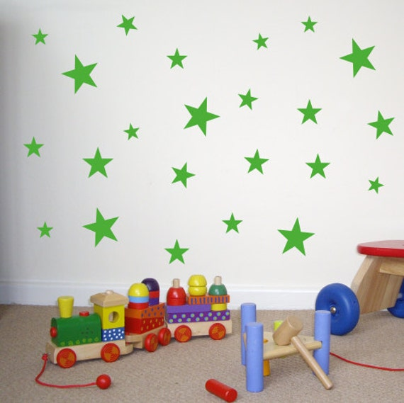 set of 60 star wall stickers wall decals window stickers sk048x