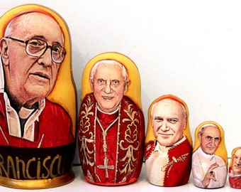 Nesting doll #529 The Pope