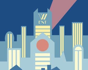 Gotham City in Art Deco