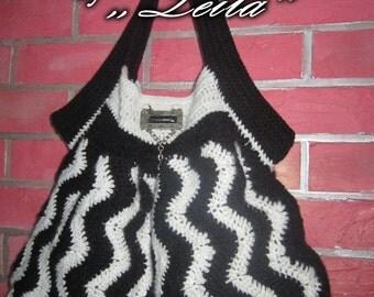 Unique handmade crocheted women's bag