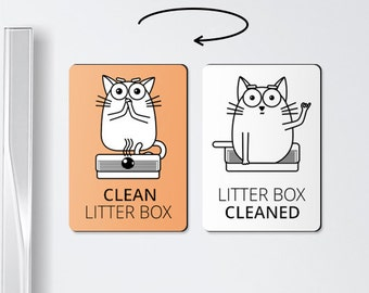 Cat magnets - LITTER BOX - board magnets, cat litter box, cat litter, to do board, pet lover gifts, cat lover gift, cat gifts