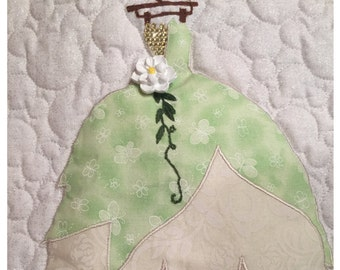 Disney Princess Tiana Dress Applique Pattern - Inspired by Disney's The Princess and the Frog