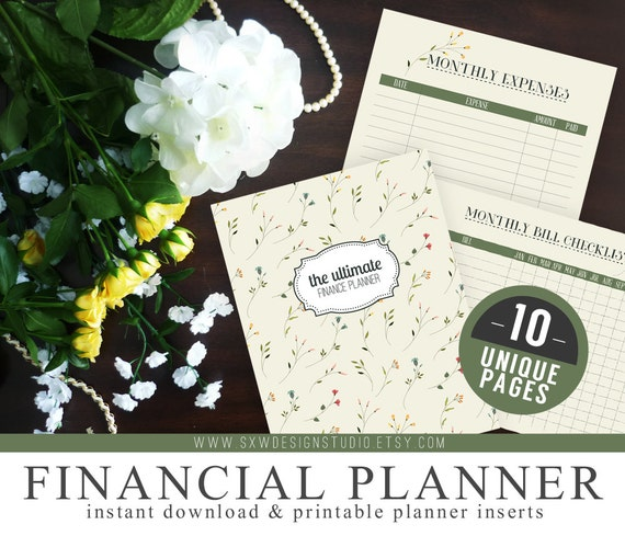 ultimate financial budget planner organizer kit instant download printable diy 10 unique