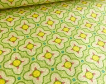 Tiled Primrose in Celery Heather Bailey Bijoux Fabric
