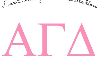 Alpha Gamma Delta Sorority Decal – Pastel Colors