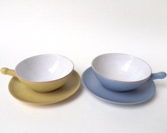 jahrgang geschirr blau wei e keramik p made von fabulousplastics. Black Bedroom Furniture Sets. Home Design Ideas
