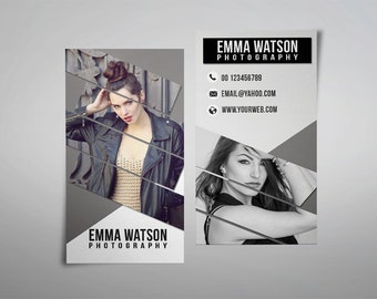 Photography business card template, elegant business card design custom photography instant download business card printable photo marketing