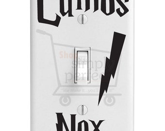Harry Potter Light Switch Decals, Lumos Nox Light Switch Decals - by Shop Simply Perfect