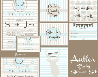 Antler Baby Shower Set | PERSONALIZED