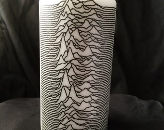 Joy Division White Unscented Pillar Candle