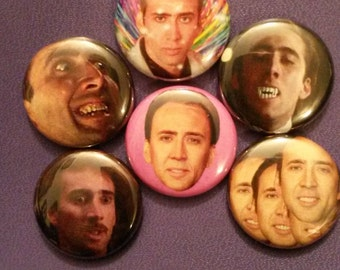 Nic Cage Button Set