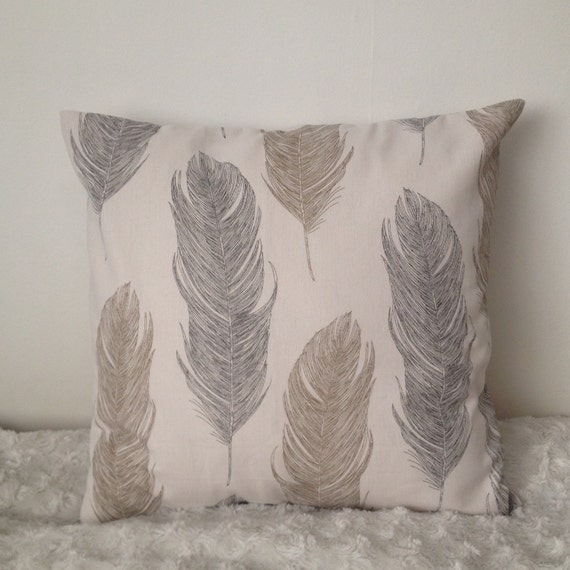 Decorative Pillows Feather : Feather pillow cover. Decorative throw pillow. Boho by DazedDayz