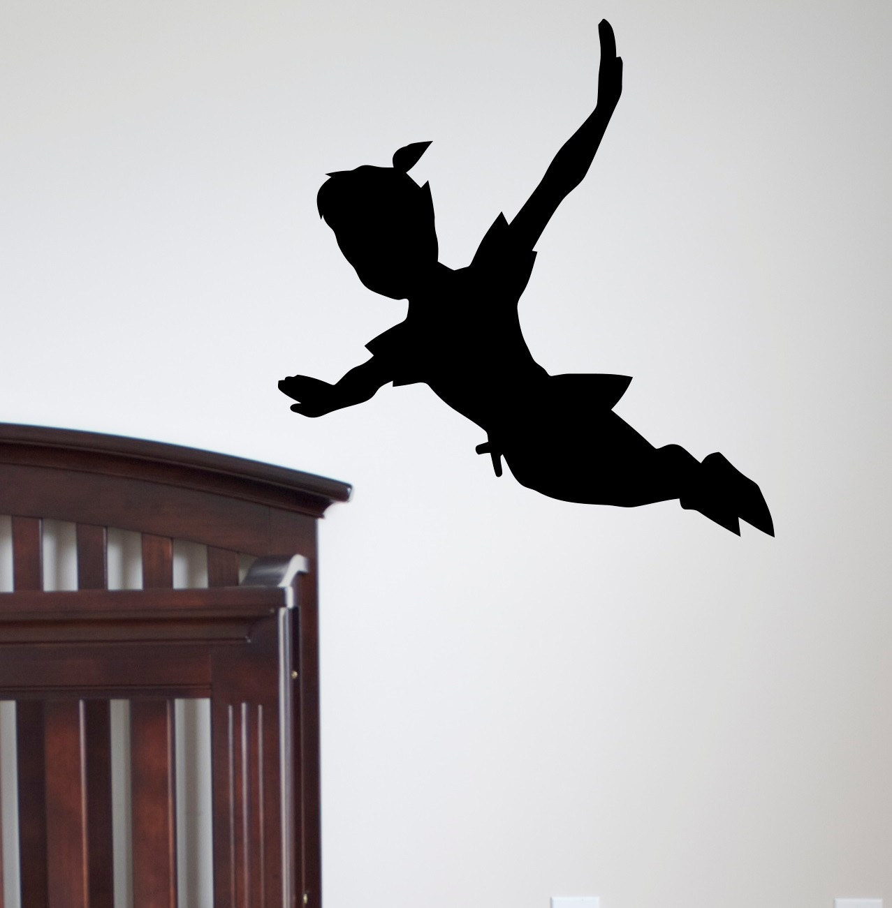 flying peter pan ombre wall decal vinyle par fabwalldecals sur etsy. Black Bedroom Furniture Sets. Home Design Ideas