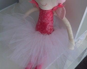 Pink Rag Doll Handmade