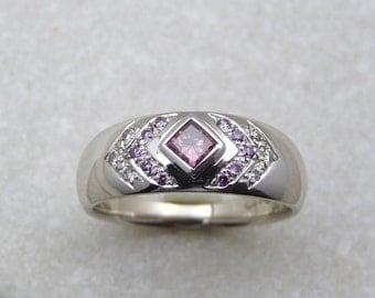 Purple Pink Diamond ring, diamond engagement ring, white diamond ring, pink diamond, ring, lady diamond ring, pink diamond band, pink ring