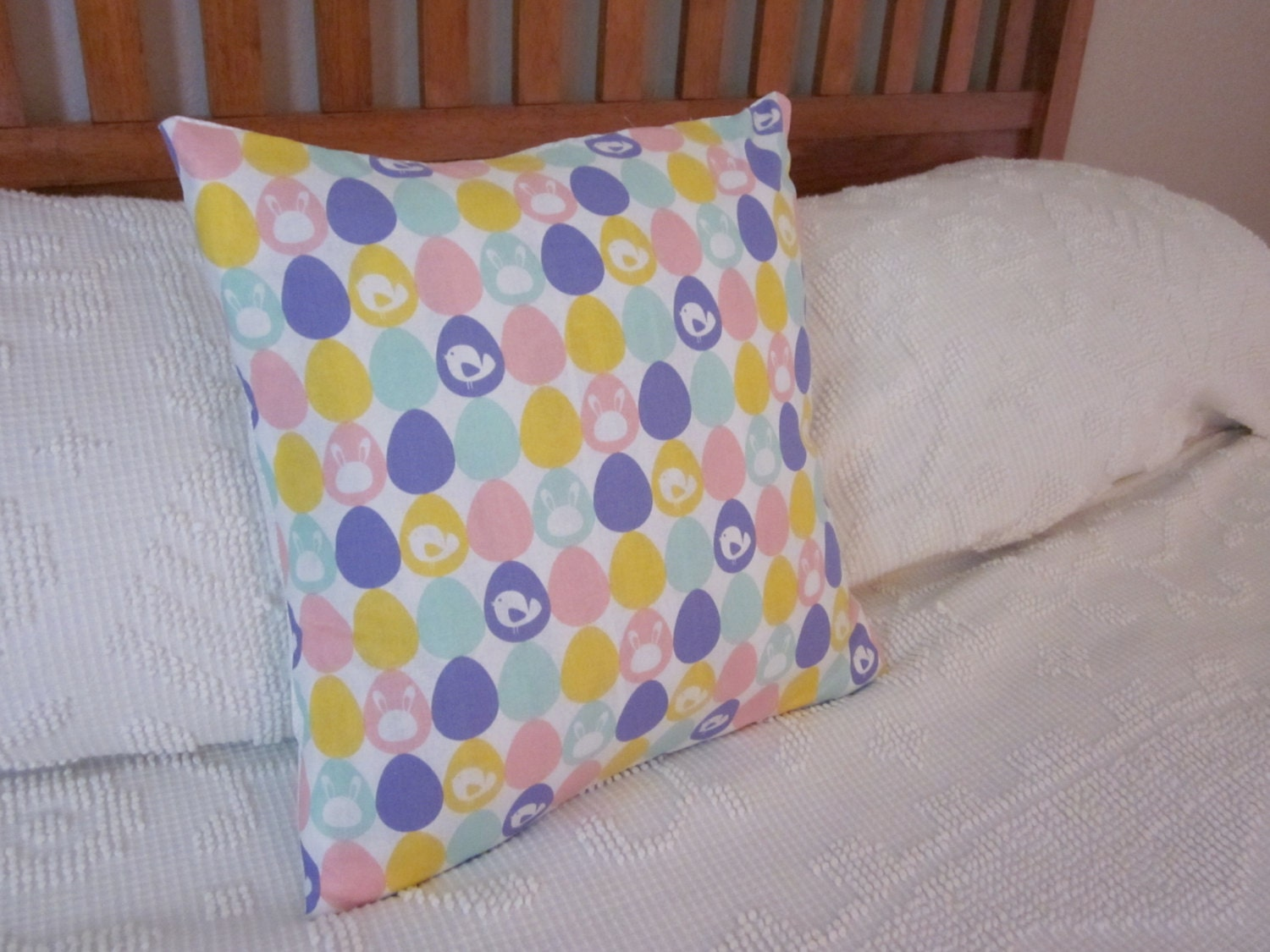 Easter Throw Pillow Covers : Easter Pillow Cover 16x16 Easter Egg Pillow Case Easter