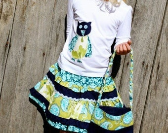 Twirly skirt sewing pattern for 0 to 5 years