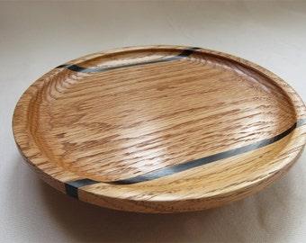 Plate in segmented turned wood - Segmented flat turned