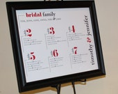Modern Wedding Seating Chart - Custom Designed Escort Sign - Made to Order Design - Wedding Reception Seating Chart - Typography Collection