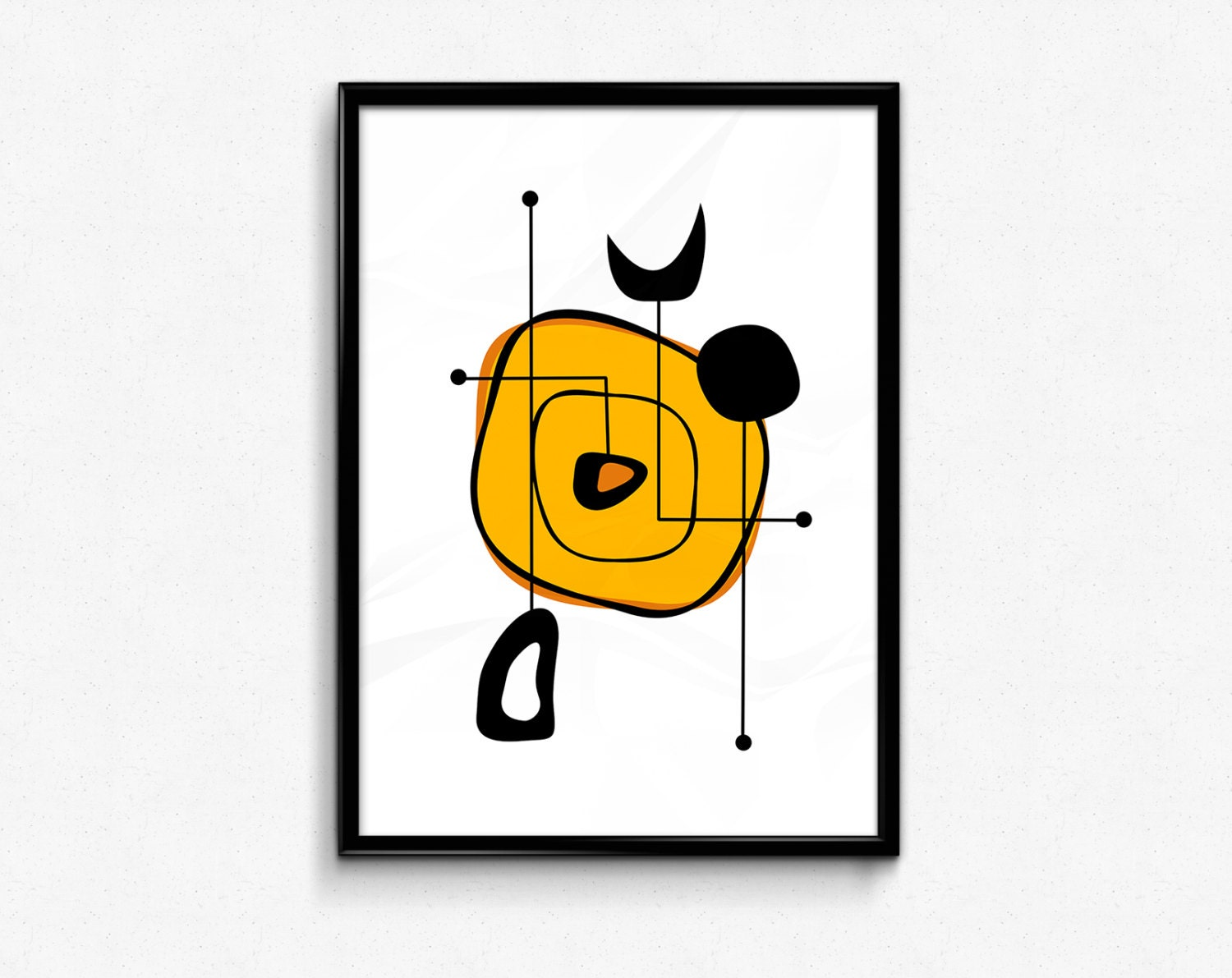 Abstract art mid century modern wall art minimalist poster for Modern minimalist wall art