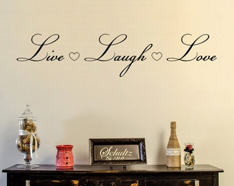 Live Laugh Love Wall Decal, Live Laugh Love Vinyl Wall Decal, Vinyl Wall Decal, Live Laugh Love Home Decoration, Love Vinyl Sticker