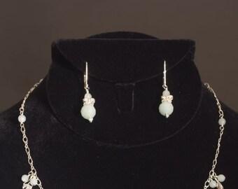 Dainty mint green butterfly earrings
