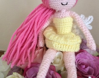 Crochet flower fairy
