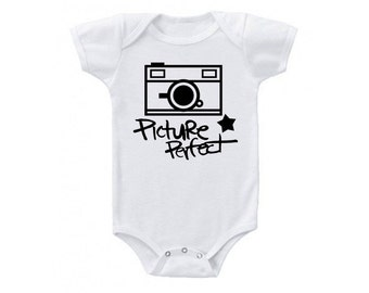 Picture Perfect Camera Onesie - Girl or Boy - Choose Your Own Color