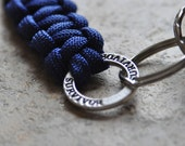 Paracord Keychain, Cancer Awareness, Royal Blue, gift for dad, keychain for dad, keychain for him, cancer survivor