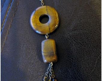 Handmade Tiger Eye Pendant Necklace