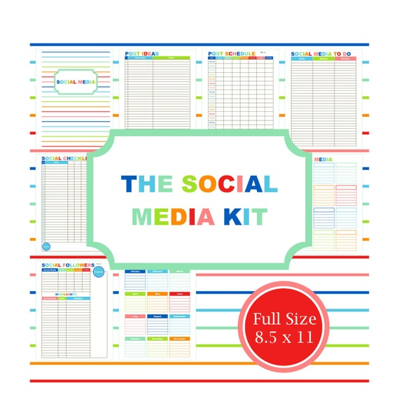 Social media kit blog planner printable blog planner Planner websites