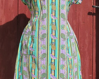 Vintage Fruit patterned sundress