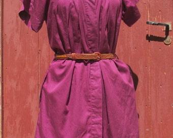 Dark Raspberry french vintage Dress