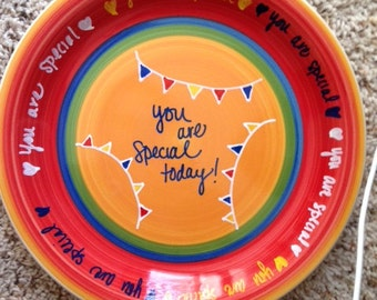 You Are Special Plate, Decorated Stoneware, Perfect for your family, Personalize