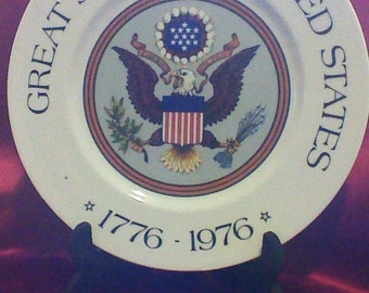 Bi-Centennial Plate Great Seal of the United States by Belcrest