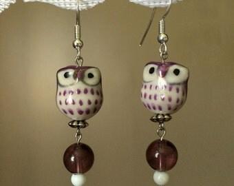 Winsome Owl -- Purple