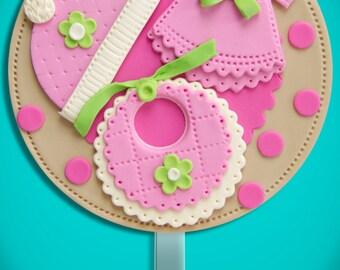 Fondant Cake Topper: Baby Girl Shower